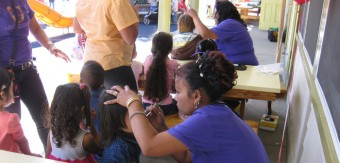 Face painting at Saint Vincent's Day Home 2012
