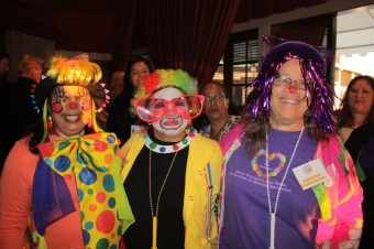 Ms. Bonita, Ms. Vilma and program manager Jennifer Youngblood clowning around